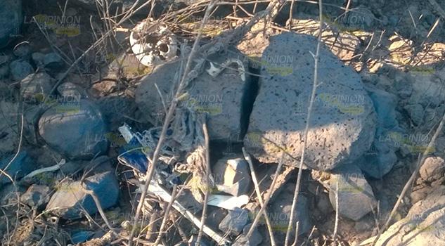 Hallan restos óseos en Tenango de Las Flores, Puebla