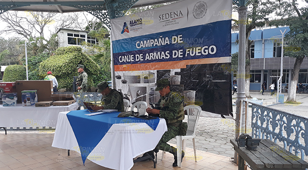 Inicia programa de canje de armas en Álamo