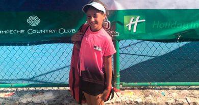 La tenista jarocha Romina Domínguez sobresale en Campeche