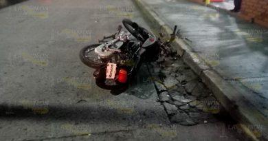Motociclista herido en Tuxpan tras accidente