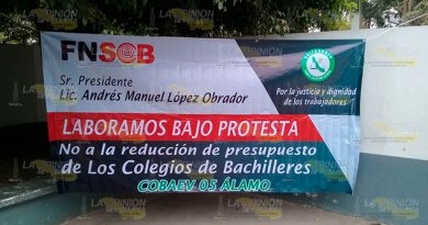 Paro en bachilleres del estado 05 de Álamo, afecta a miles de estudiantes