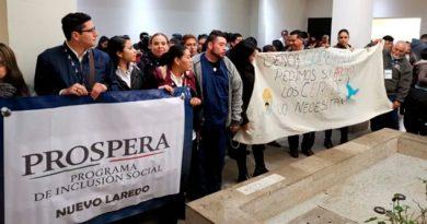 Protestan por despidos de Prospera en Tamaulipas