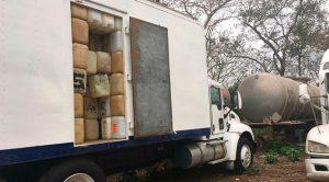 Recuperan fuerzas del orden camiones torton y cisternas en Joachín