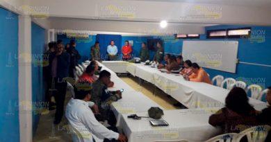 Reunión de Seguridad Pública en Cazones de Herrera