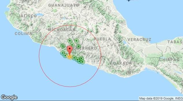 Se registraron sismos de magnitud 5.1 en Guerrero y 4.0 en Oaxaca