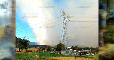 Sigue activo el incendio; van 500 hectáreas quemadas