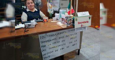 Trabajadores del IVEA emplazan a huelga en Tuxpan
