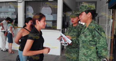 Va Ejército por más personal femenino en Tuxpan