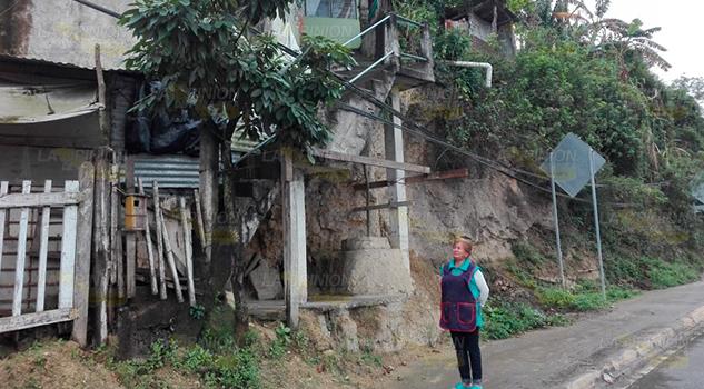 Vivienda en Tuxpan a punto de desplomarse