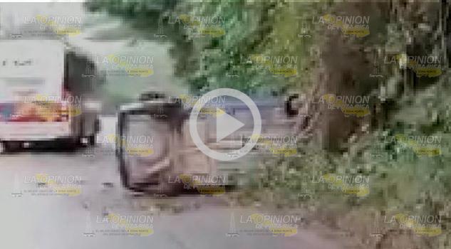 Vuelca Chevy sobre la Gutiérreza Zamora - Papantla