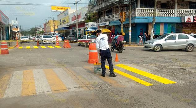 Previenen accidentes contra los transeúntes en Naranjos