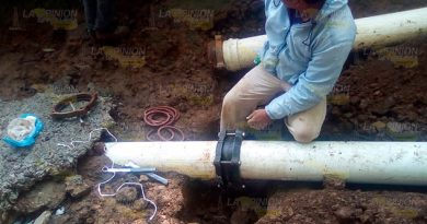 24 colonias de Huauchinango sin agua por ruptura de tubería