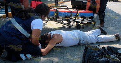Anciano arrollado sobre la calle 10 con 2 de Enero de Poza Rica