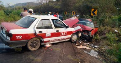Aparatoso accidente en la Tantoyuca - Tempoal deja 6 lesionados