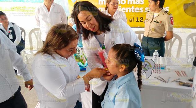 Arranca Primera Semana Nacional de Salud Bucal en Coatzintla
