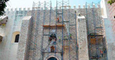 Avanza INAH en la restauración de la catedral de Cuernavaca