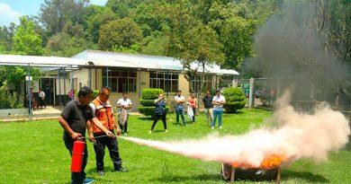 Capacita SS a su personal en prevención y combate de incendios en Xalapa