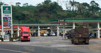 Confusión por el costo de gasolina en Papantla