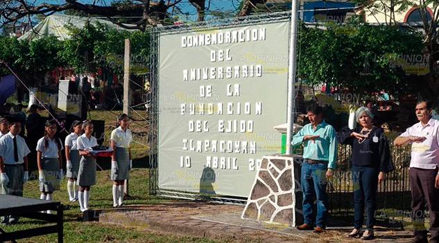 Conmemoran el 90 Aniversario del ejido La Palmilla en Tlapacoyan