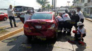 Dos heridos por fuerte choque en Tuxpan