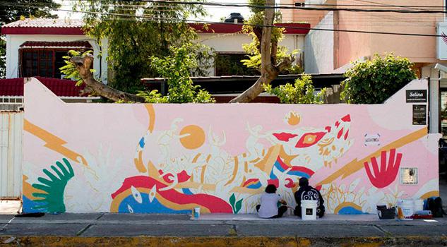 El mural que retrata la fuerza mística de las mujeres mexicanas ante la inseguridad