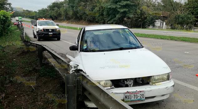 Embestido por una pipa en la autopista Poza Rica - Tuxpan