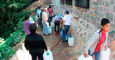 En Naolinco llevan 20 días sin agua, podrían ser hasta 3 meses