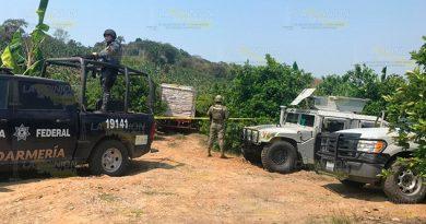 Gendarmería asegura 25 mil litros de hidrocarburo en Tihuatlán