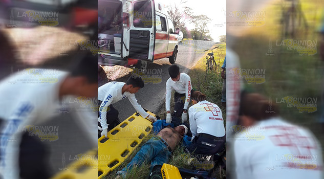 Grave atropellado por vehículo fantasma en la Tuxpan - Tampico