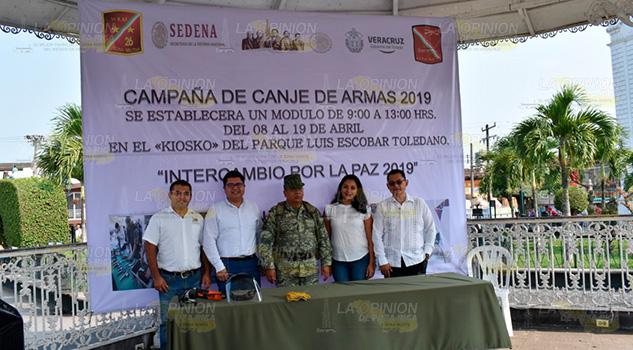 Inicia Campaña de Canje de Armas 2019 en Tlapacoyan