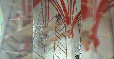Inician trabajos de rehabilitación en iglesia de Papantla