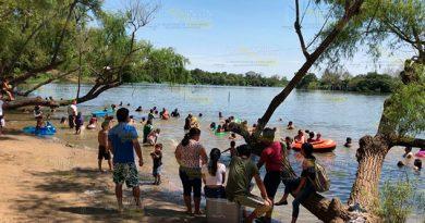 Laguna en El Higueral, alternativa para cientos de paseantes