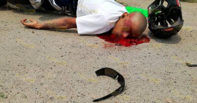 Lo ejecutan a balazos frente a motel en Tuxpan