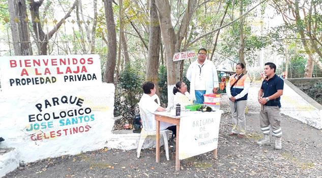 Módulo de salud brinda atención en el río La Laja