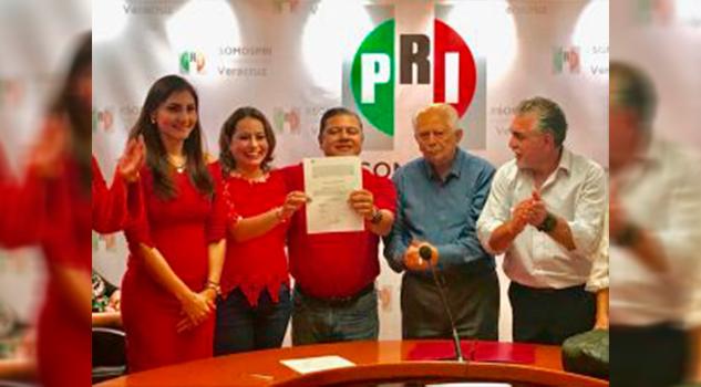 Marlon Ramírez y Arianna Ángeles, Presidente y Secretaria General del CDE del PRI