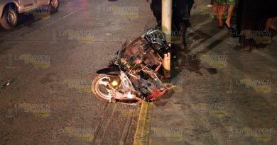 Motociclista resultó grave tras ser embestido por un taxi en Tuxpan