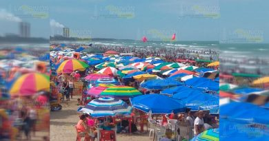 Playas de Tuxpan... ¡HASTA EL TOPE!