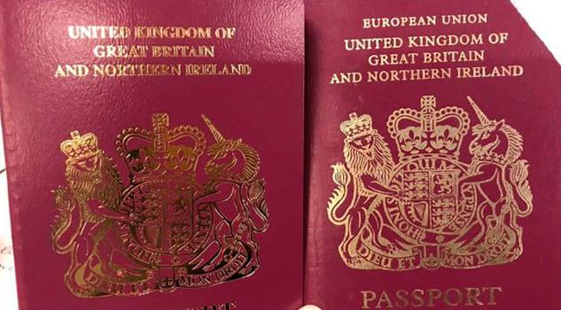Reino Unido emite los primeros pasaportes sin las palabras Unión Europea
