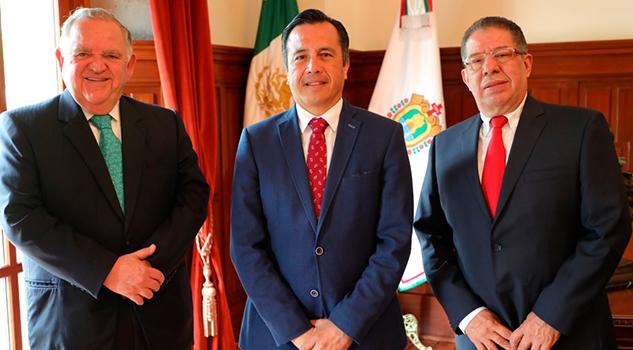 Reiteran los tres Poderes del Estado acciones coordinadas en pro de Veracruz
