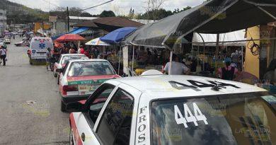 Taxistas de Tihuatlán sufren pérdidas en el periodo vacacional