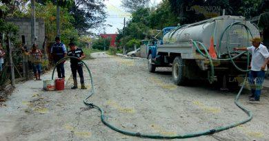 Ante ola de calor, se intensifica suministro de agua en Álamo