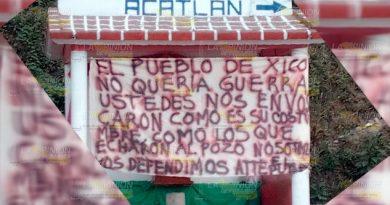 Aparece huachi-manta en paraje de la carretera Texcapa - Juan Galindo