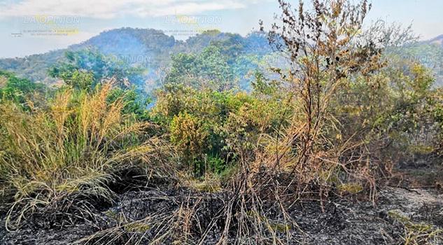 Aumentan incendios en comunidades de Tihuatlán