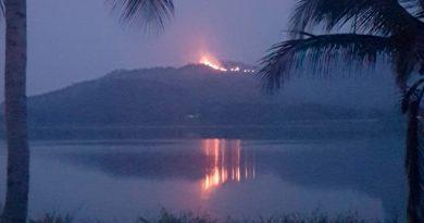 Confirma PC incendio en El Viejon, en los límites de Actopan y Alto Lucero