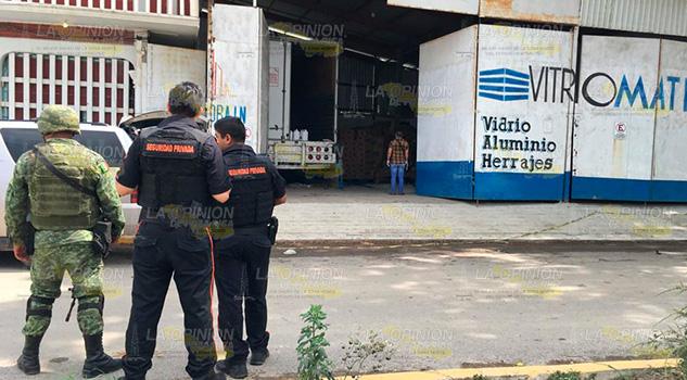 PFM catea bodega en Tuxpan