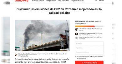 Piden freno a mala calidad del aire en Poza Rica; lanzan petición en Change.org
