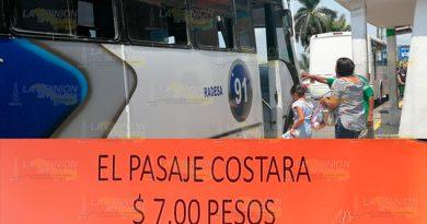 Sube el pasaje en el transporte público de Tuxpan