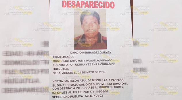Vecino de la comunidad de Tamoyón es buscado por sus familiares