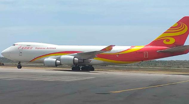 Venezuela recibe avión con insumos médicos de China