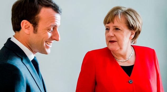 Angela Merkel recibe apoyo del Macrón para dirigir la UE